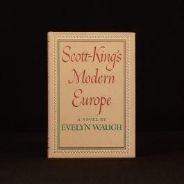 1949 Evelyn Waugh Scott-King's Modern Europe Novel Dustwrapper