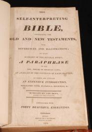 1814 Self-Interpreting BIBLE paraphrase JOHN BROWN