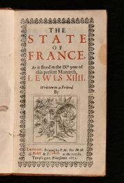 1652 The State of France as it Stood in the IX Yeer of this present Monarch