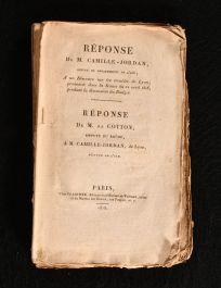 1818 Reponse de M Camille-Jordan Depute du Departement de L'Ain