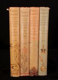 1956-58 4 vol History ENGLISH Peoples W. CHURCHILL 1st