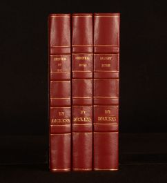 1849-52 3vol Barnaby Rudge Boz Christmas Books Charles Dickens 1st Thus