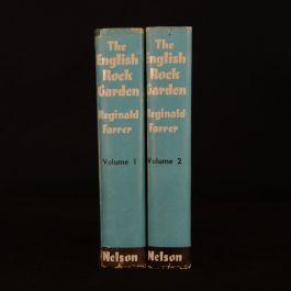 1955 2vols The English Rock-Garden Reginald Farrer Dustwrapper Illustrated