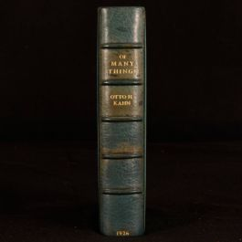 1926 Of Many Things Reflections Impressions Asprey Zaehnsdorf Binding Otto Kahn
