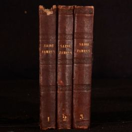 1844 3vols Saint James's or The Court of Queen Anne Ainsworth First Edition Illu