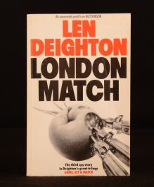 1985 London Match Len Deighton Uncorrected Proof Uncommon