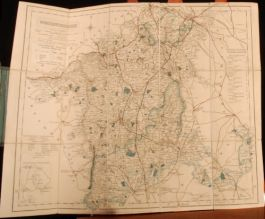 c1841-1881 WALKER'S County Maps WORCESTERSHIRE