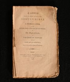 1786 A Letter from the Right Hon Edmund Burke to A Noble Lord On the Attacks