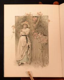 1890 The Golden Treasury of Art and Song Very Scarce Bell Mack Colour Illustrated