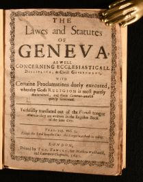 1643 The Lawes and Statutes of Geneva