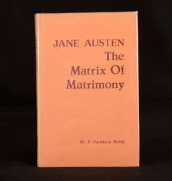 1987 Jane Austen The Matrix of Matrimony T Vasudeva Reddy First Edition Scarce