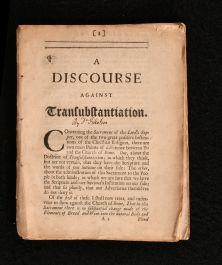 1684 A Discourse Against Transubstantiation