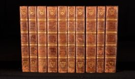 1824 10Vols The Works Of Alexander Pope Complete In Leather Binding