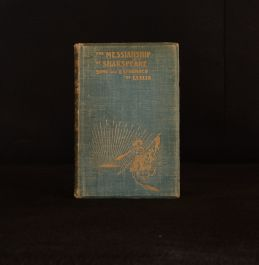 1901 The Messiahship of Shakespeare Charles Downing Clelia First Edition Signed