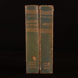 1955 2vols Hachette Guides Greece Algerie Tunisie English French Dustwrapper