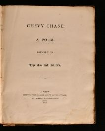 1813 Chevy Chase, a Poem. Founded on the Ancient Ballad