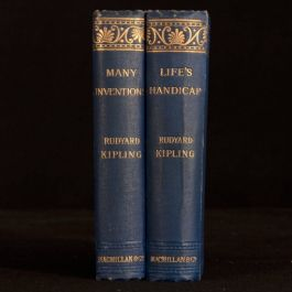 1893 2vol Many Inventions and Life's Handicap Rudyard Kipling Stories Reprints