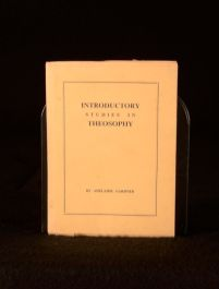 c1948 Adelaide Gardner Introductory Studies In Theosophy First Edition