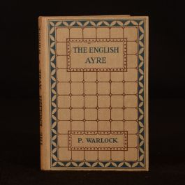 1926 The English Ayre Peter Warlock First Edition Decorative Cloth