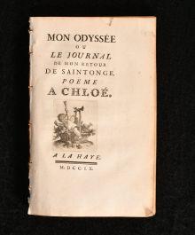 1760 Mon Odyssee ou Le Journal de Mon Retour de Saintonge Poeme A Chloe