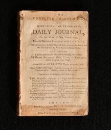 1787 The Complete Pocket Book or Gentleman's and Tradesman's Daily Journal