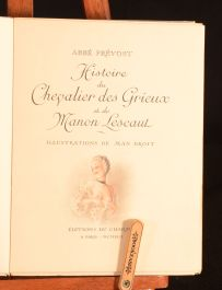 1942 Manon Lescaut Abbe Prevost Illus Limited Edition