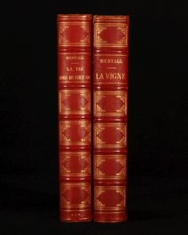 1876-78 2 Vols Vigne & La vie hors de Chez Soi BERTALL