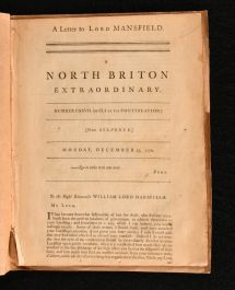 1770 A Letter to Lord Mansfield A North Briton Extraordinary