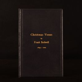 1935 Frank Bedwell His Christmas Verses 1897-1909 Signed Very Scarce Illustrated