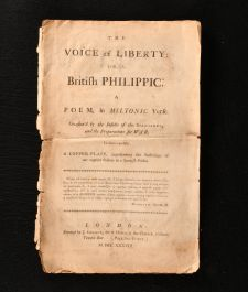 1738 The Voice of Liberty or a British Philippic a Poem in Miltonic Verse