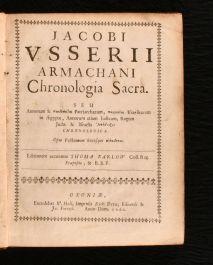 1660 Chronologia Sacra Romanae Ecclesiae