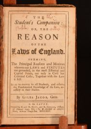 1725 The Student's Companion: or, the Reason of the Laws of England