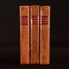 1783-4 3vol Dramatic Miscellanies Shakespeare Thomas Davies Mr. Garrick First Ed