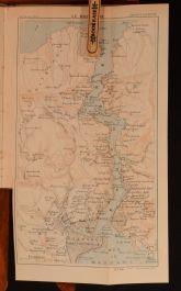1938 Mediterranee Orientale Egypte Chardon Les Guides Bleus Colour Folding Maps Illustrated