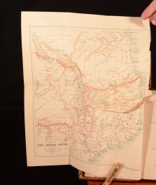 1891 Tropical Africa by Henry Drummond Folding Map Illustrated Travel