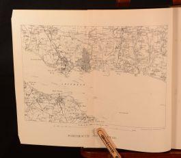 1913 The Naval Mutinies of 1797 Conrad Gill Folding Map Very Scarce Navy