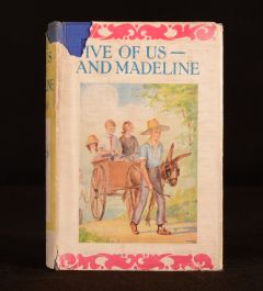 1928 Five of Us and Madeline Edith Nesbit Illustrated Scarce Dustwrapper