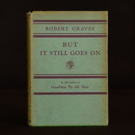 1930 But It Still Goes On Robert Graves First Ed Second Impression Dustwrapper
