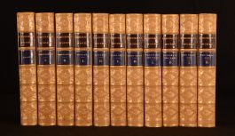 1881 11vol Charles Kingsley Works Westward Ho Alton Locke Leather Binding
