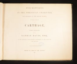 1862 Inscriptions to the Phoenician Character Now Deposited in the British Museum