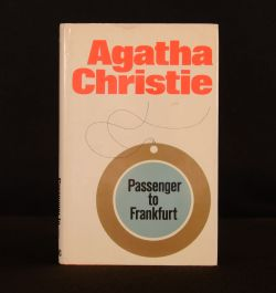 1970 Passenger to Frankfurt Agatha Christie Dustwrapper First Edition