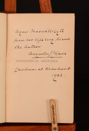 1895 Biographical Sketches Augustus J. C. Hare 1st Ed Signed Presentation Copy Illustrated