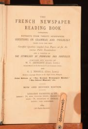 1884 The French Newspaper Reading Book Scarce Jeffcott Tossell GrammarPhilology