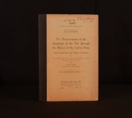 1928 H E Hurst The Measurement of the Discharge of the Nile First Edition Cairo