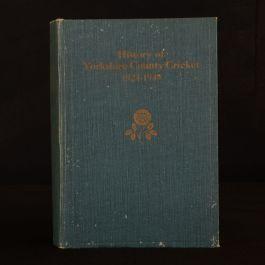 1950 History of Yorkshire County Cricket J M Kilburn T L Taylor J H Nash Sport