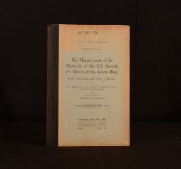 1928 The Measurement of the Discharge of the Nile H E Hurst 1st Ed Signed Cairo