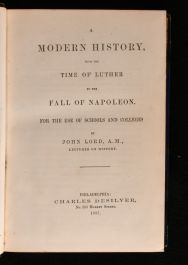 1857 A Modern History, From the Time of Luther to the Fall of Napoleon