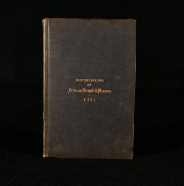 1841 Constitutions of the Ancient Fraternity of Free and Accepted Masons