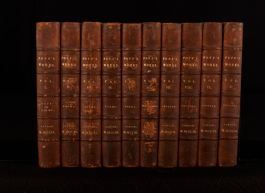1806 10Vol Bowles The Works Of Alexander Pope In Verse And Prose Leather Binding