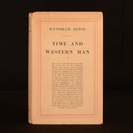 1927 Time and Western Man Wyndham Lewis First Edition Dustwrapper